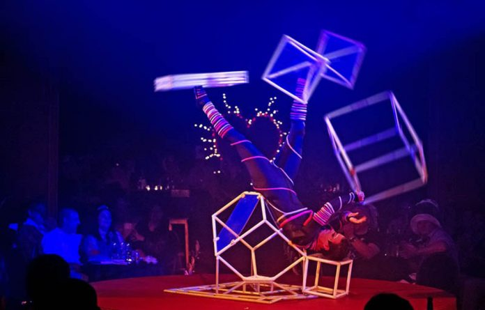 Nataliya Tolstikova's six-minute act features unusual props that weigh up to 4kg.