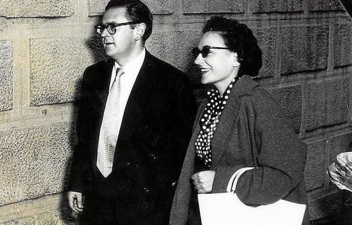 Eventful lives: Ruth First playing herself in Jack Gold's film on her imprisonment with husband Joe Slovo during the treason trial.