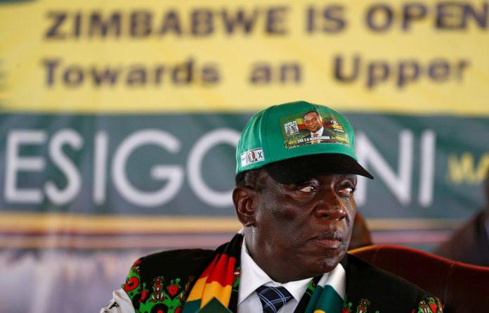 Zimbabwe's President Emmerson Mnangagwa at the official opening of Zanu-PF's annual conference in Esigodini