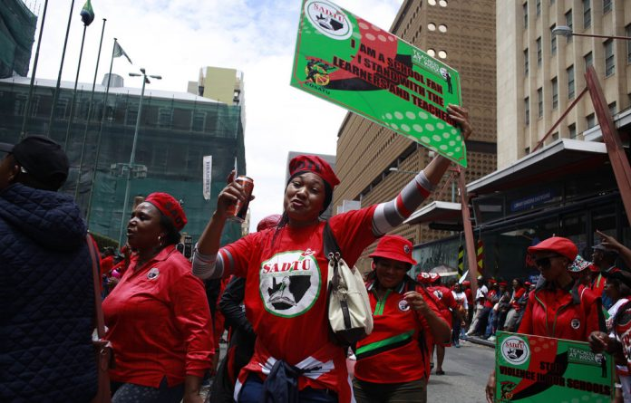 Members of trade union federation Cosatu took to the streets a week before Finance Minister Tito Mboweni's budget speech in a bid to get him to include labour's views on unemployment and job cuts.