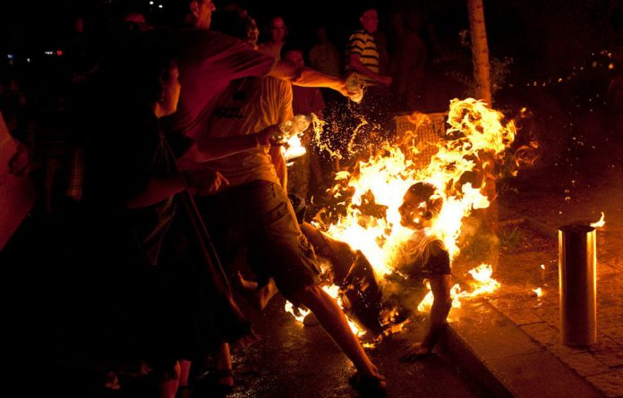 A protester set himself on fire during a demonstration calling for social justice in Tel Aviv.