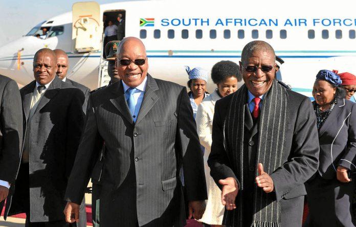 President Jacob Zuma and Lesotho Prime Minister Pakalitha Mosisili.