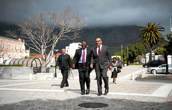 Big steps: Cyril Ramaphosa and Trevor Manuel head the planning commission