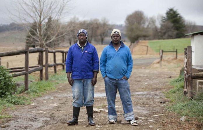 Farm workers Bonginkosi and Sam Mhlongo