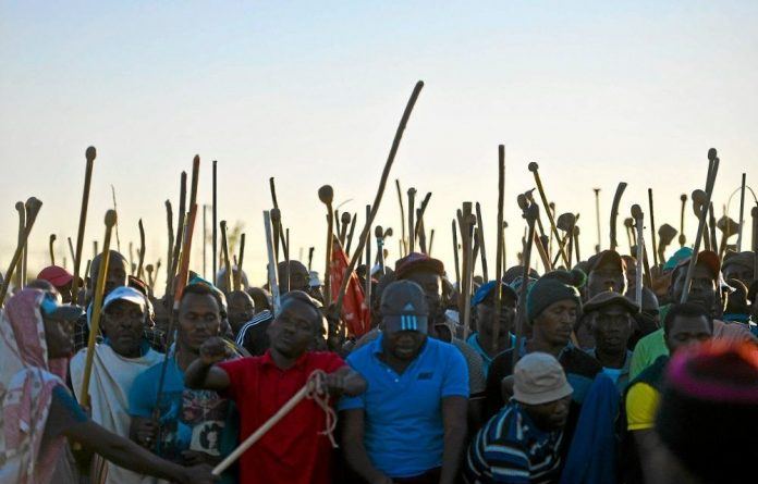 The platinum mining strike has been ongoing for 18 weeks.