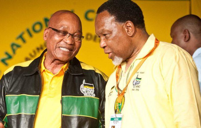 President Jacob Zuma with Deputy President Kgalema Motlanthe.