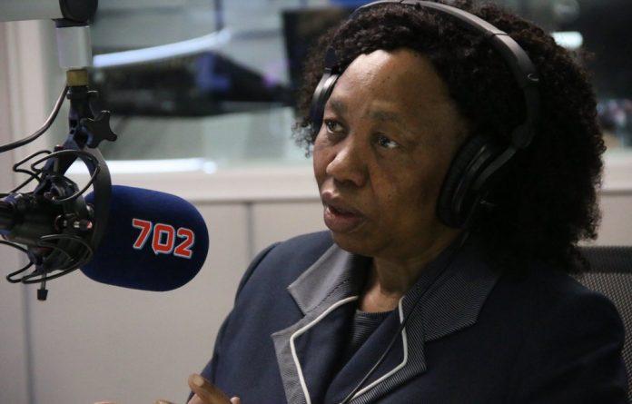 Minister Angie Motshekga during the radio interview.