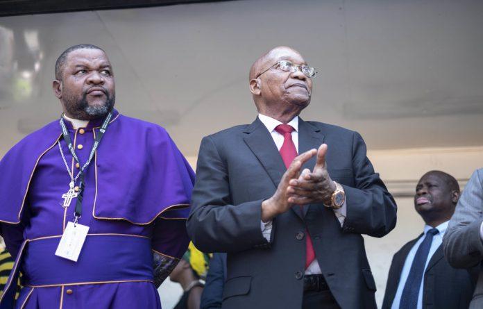 Former president Jacob Zuma enjoys the support of Bishop Bheki Ngcobo