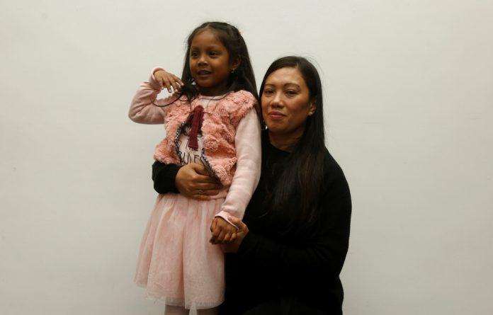 Vanessa Mae Bondalian Rodel and her daughter Kellapatha Sanuthi Keana Nihinsa