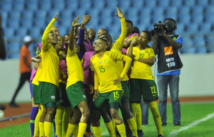 Savouring the moment: Banyana Banyana celebrate their victory against Mali during the 2018 African Women's Cup of Nations semifinal in Ghana.