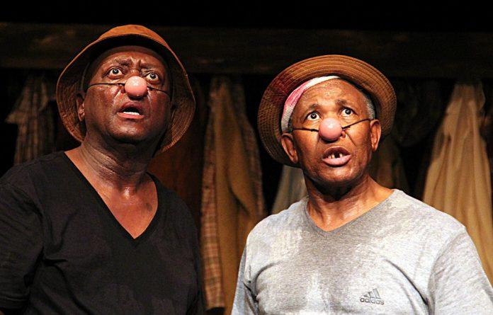 Anecdotal: Woza Albert! starring Mbongeni Ngema and Percy Mtwa. Photo: Supplied