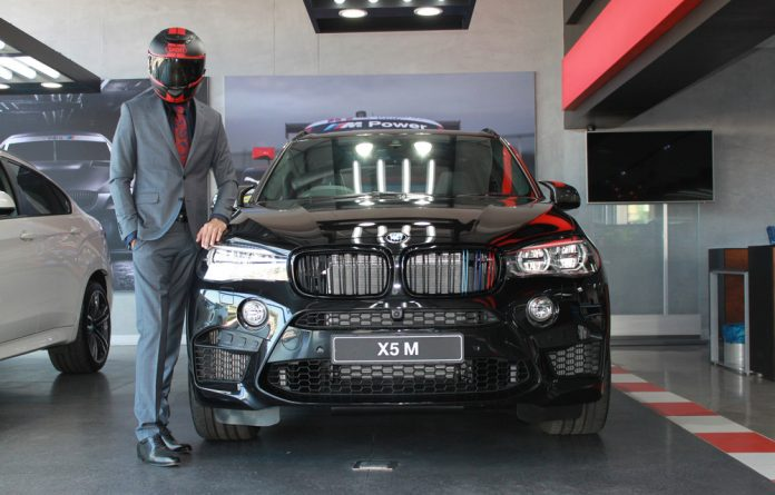 The Singh prepares to take the BMW X5 M out for a spin