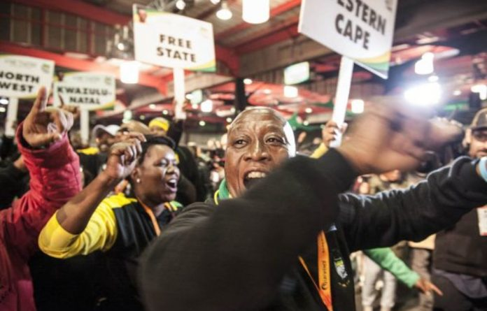 ANC delegates at the party's elective conference in December. ANC structures remain divided following the election of Cyril Ramaphosa as president of the party.