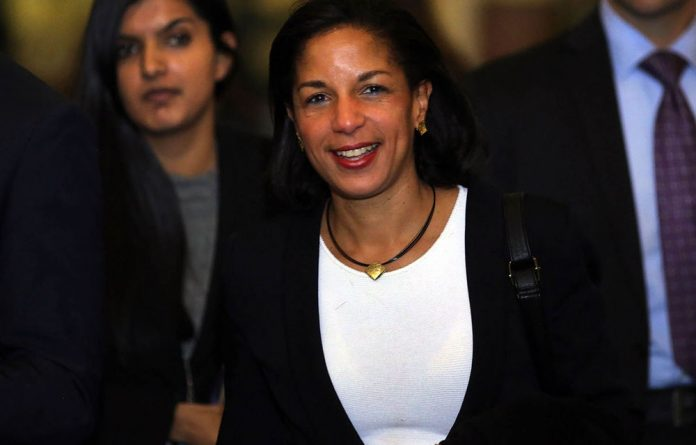 UN Ambassador Susan Rice.