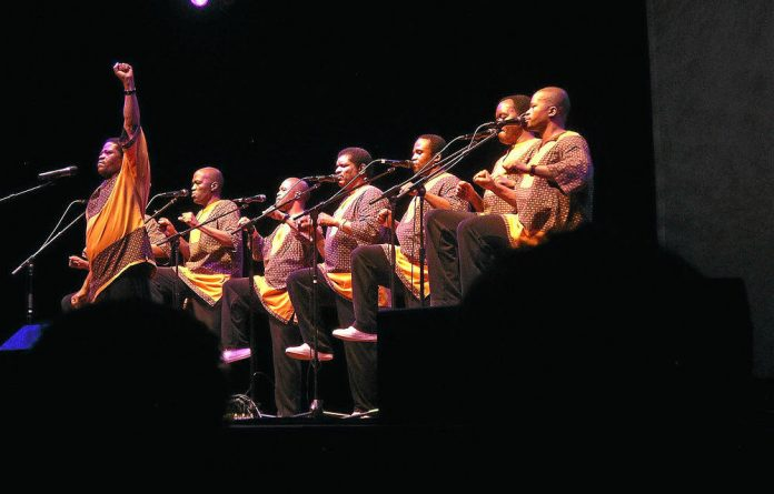 In full cry: Ladysmith Black Mambazo say their success lies in striving for excellence.