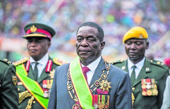Robert Mugabe's successor President Emmerson Mnangagwa