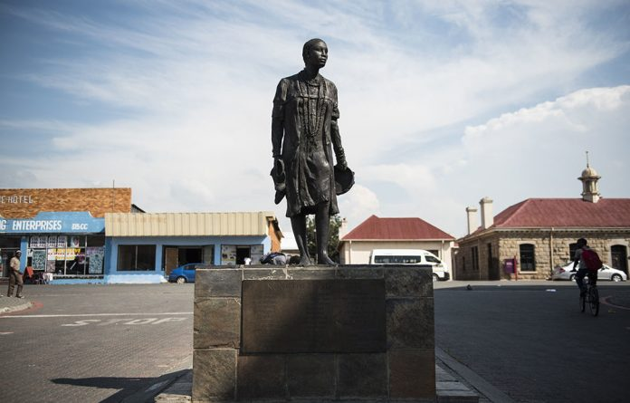 Memory: Even in death Nokuthula Simelane is brutalised. A statue of her in Bethal has been vandalised.
