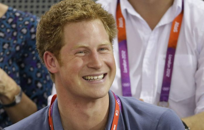 A file photograph of Prince Harry at the cycling event at the Olympics on August 2 2012 in London.