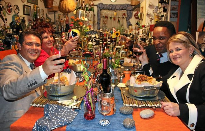 Race and politics are on the menu in Come Dine with Me SA.