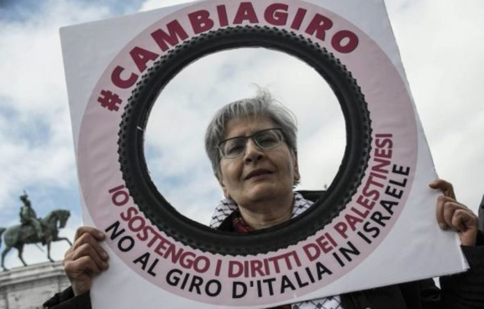The Giro d'Italia has sparked protests in Rome