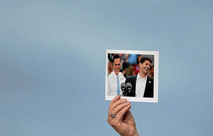 Running mates: Paul Ryan  and Republican presidential candidate Mitt Romney.
