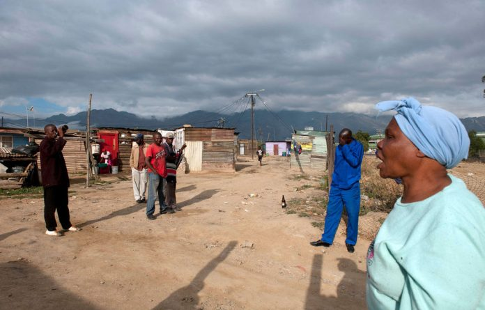 Ceres farmworkers at the Nduli township.