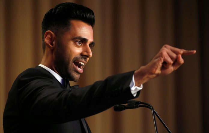 Hasan Minhaj of Comedy Central performs at the White House Correspondents' Association dinner in 2017.