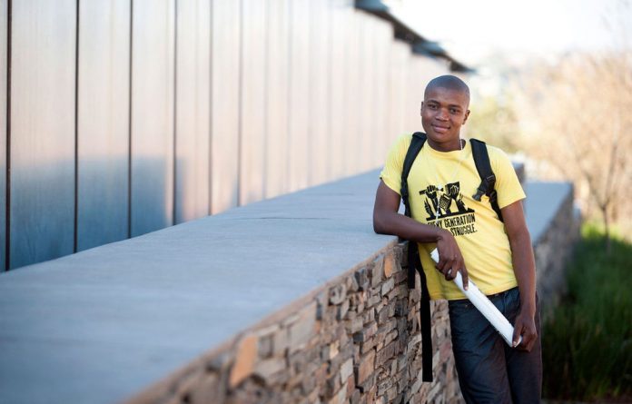 Wesley Moutloali talks about the problems at his school that have resulted in many learners dropping out or failing.