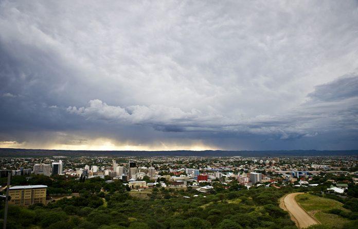 Rain clouds loom over Windhoek