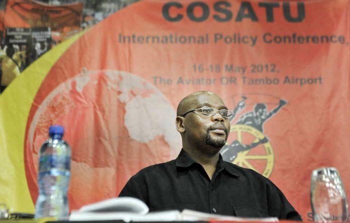Cosatu president Sidumo Dlamini.