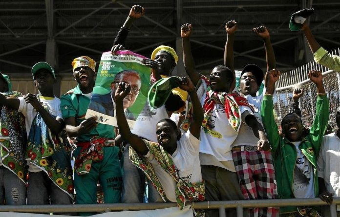 Robert Mugabe was inaugurated as president of Zimbabwe for the seventh time