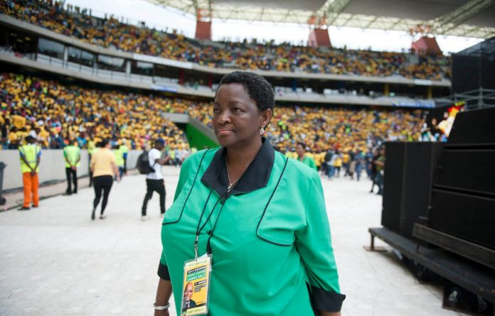 ANC Women's League president Bathabile Dlamini was reportedly driven to tears after she was confronted by a mob of angry residents in New Brighton.
