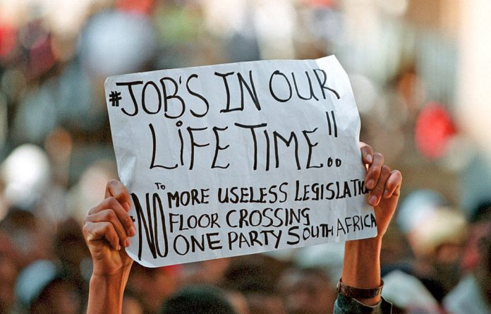 ILO South African director Vic van Vuuren attributed unemployment to fragile economic conditions