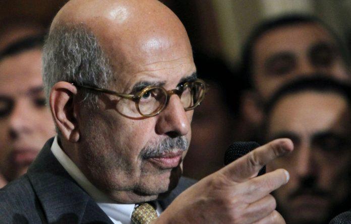 Egypt's former vice-president Mohamed ElBaradei.
