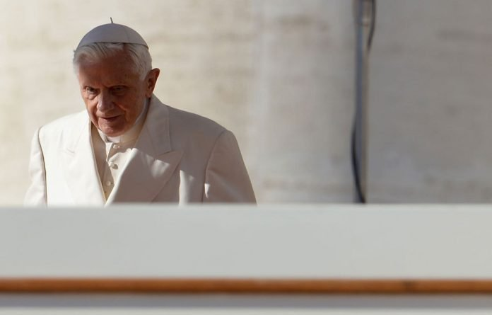 Pope Benedict XVI arrives for his weekly general audience on at St Peter's square at the Vatican.