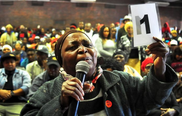 Divide: Emotions ran high at the public hearings into expropriation without compensation in Limpopo.