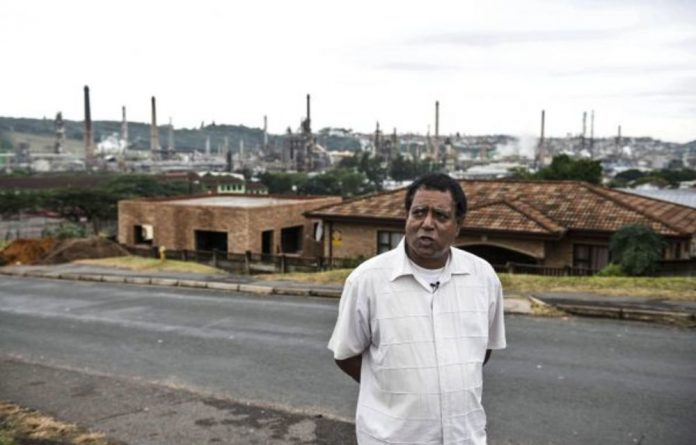 Fighting: Environmental alliance member Desmond D'Sa alleges that Engen is only 'interested in the bottom line'