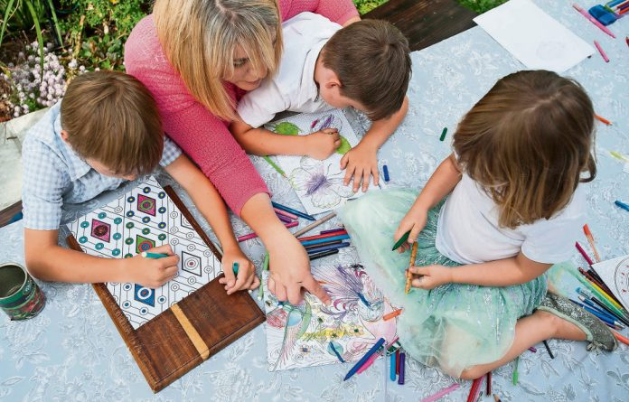 Making pretty: Occupational therapists and psychologists have found that colouring-in – alone or in a group – is good for people of all ages and health stages.