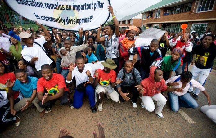 As students such as these University of Johannesburg protesters demand free tuition