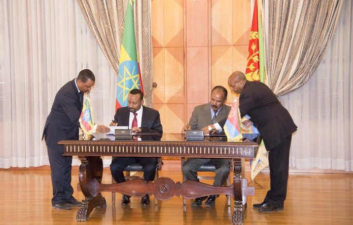 Eritrea and Ethiopia have signed a Joint Declaration of Peace and Friendship today. The Agreement was signed this morning at State House by President Isaias Afwerki and Prime Minister Abiy Ahmed