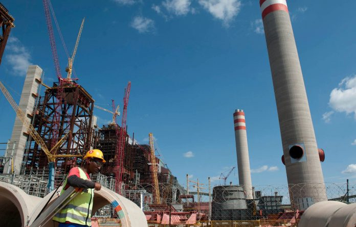Medupi power station during the initial phases of construction.
