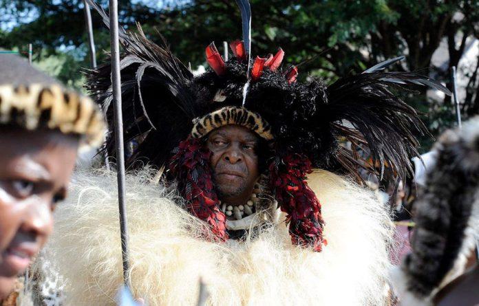 King Goodwill Zwelithini and his Zulu warriors celebrate the annual Umkhosi Wokweshwama ceremony.