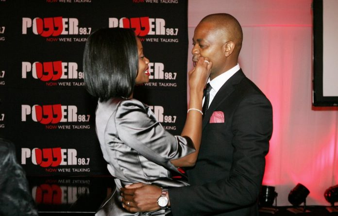 Given and Ipeleng Mkhari at the launch of the new radio station