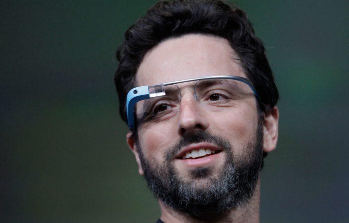 Google co-founder Sergey Brin demonstrates Google's new Glass