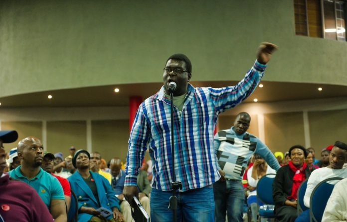 Land hunger: Musa Makhanya delivers his father's message at the hearing.