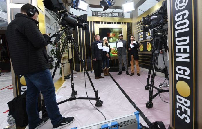 Staff rehearse for Sunday's 76th Golden Globe Awards