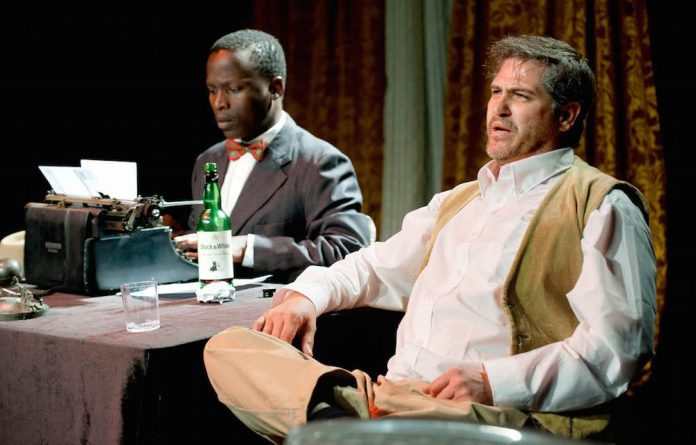 Strange friendship: Sipho Mahlatshana as Sol Plaatjie and David Dukas as Cecil John Rhodes in 'Hinterland'.