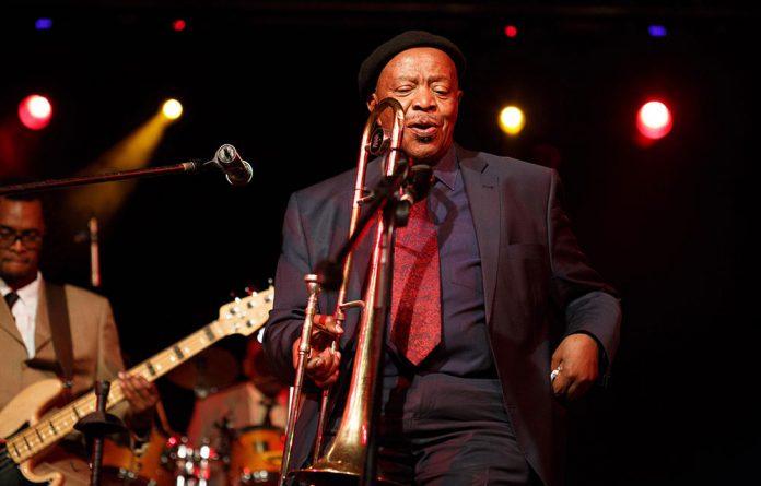 Jonas Gwangwa performs at the Joy of Jazz.