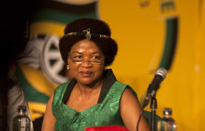 Speaker of the House Baleka Mbete.