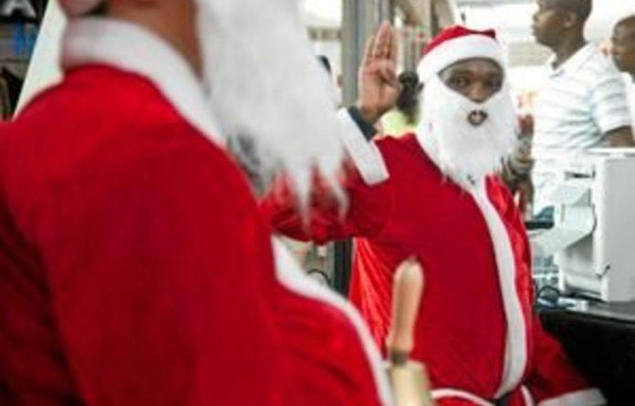 Father Christmas at Maponya Mall.